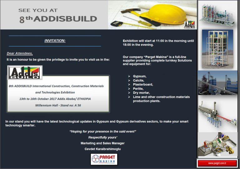 ADDISBUILD Uluslararası İnşaat, Yapı Malzemeleri ve Teknolojileri Fuarı'nda...